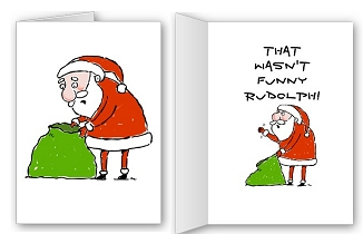 Rude santa funny christmas cards and shirts funny rudolph christmas card m4hsunfo