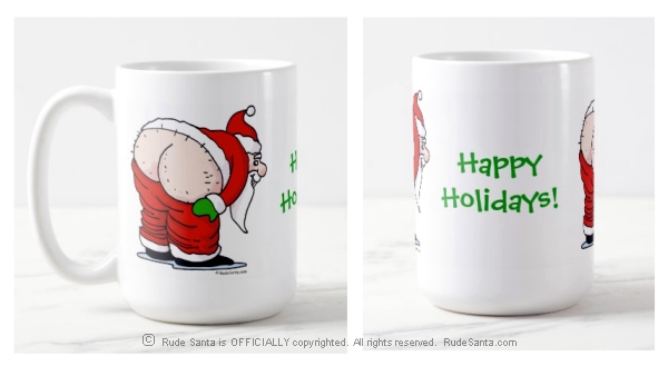 Rude Santa Coffee Mug